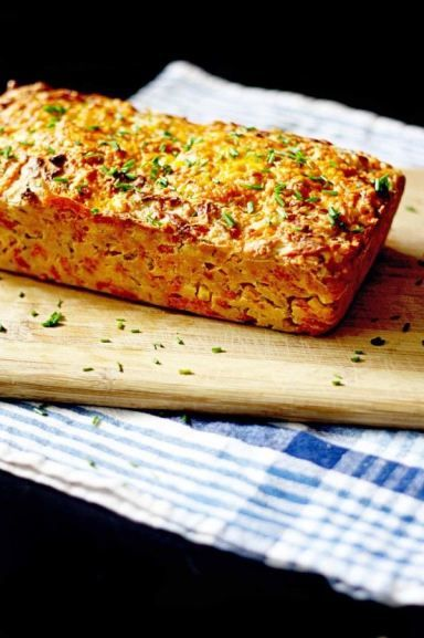 Cheddar Chive and Corn Beer Bread