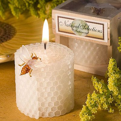 $0.99  Goes with the garden and we could get some personalised stickers to put on the box  Pure Beeswax Candles 5200-FC
