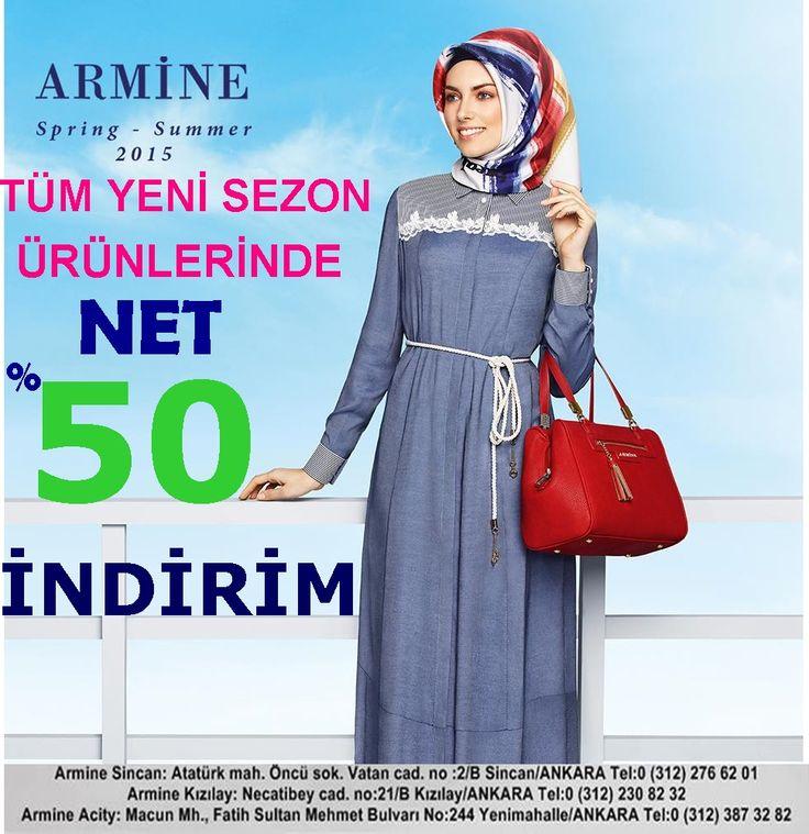 Armine yeni sezon ürünlerinde net %50 indirim! Keyifli alışverişler! :) Armine, #ACity 1. katta.