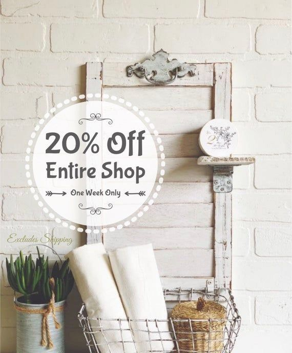 20 Off Entire Shop Basket Shelves Shutter Shelf Shutters Repurposed