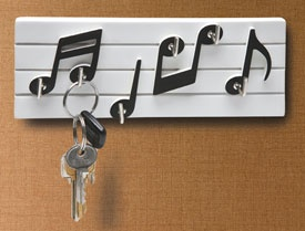 Music Note Key Hooks - colgador de llaves