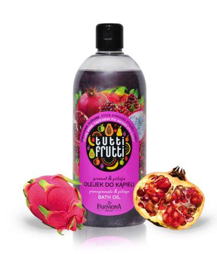 Tak jak obiecałam jakiś czas temu, po przetestowaniu olejku Granat & Pitaja od Tutti Frutti – dziś coś więcej na jego temat. O marce Farmona i serii kosmetyków pisałam już poprzednio (zapraszam tutaj http://kostrzewinki.pl/owocowa-rozkosz-tutti-frutti-od-farmony/), więc dziś konkretnie na temat opalizującego olejku do kąpieli.