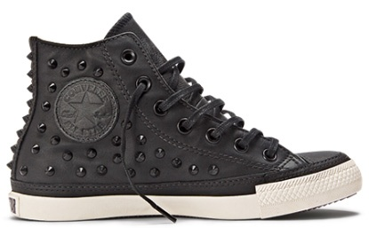 Studded black converse
