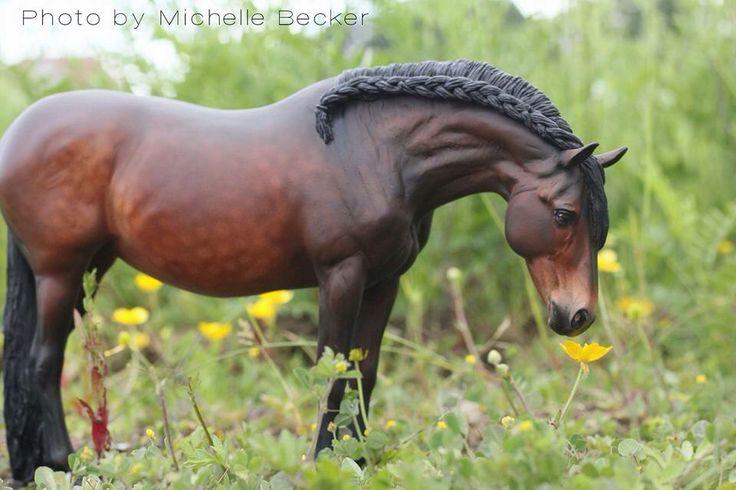 Drastic Custom Model Horse Resin Breyer Peter Stone Dapple Bay