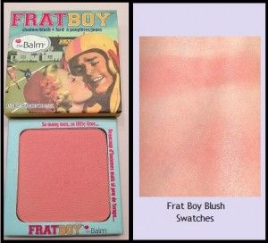 Review and swatches of The Balm Cosmetics Frat Boy blush