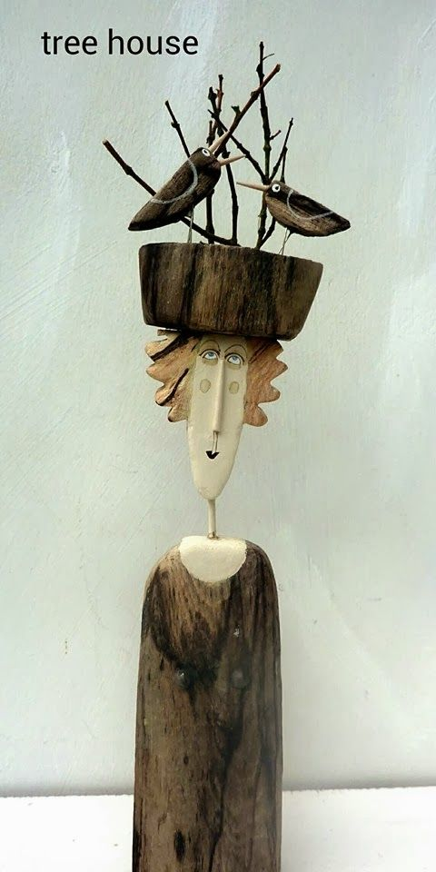 gniazdko, wood art by Sylwia from ecoManufactura - sorry... I don't understand anymore, but beautiful art