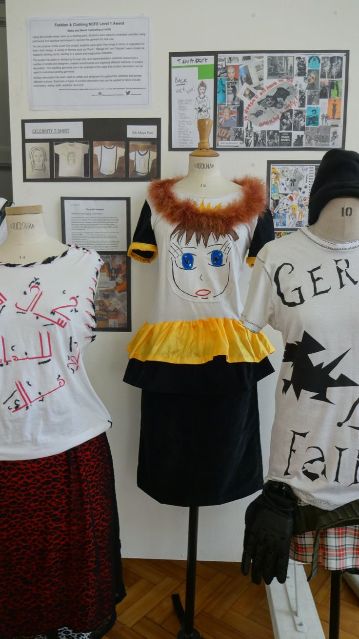 congratulations G8 work @Richmond Art School Level1 fashion students