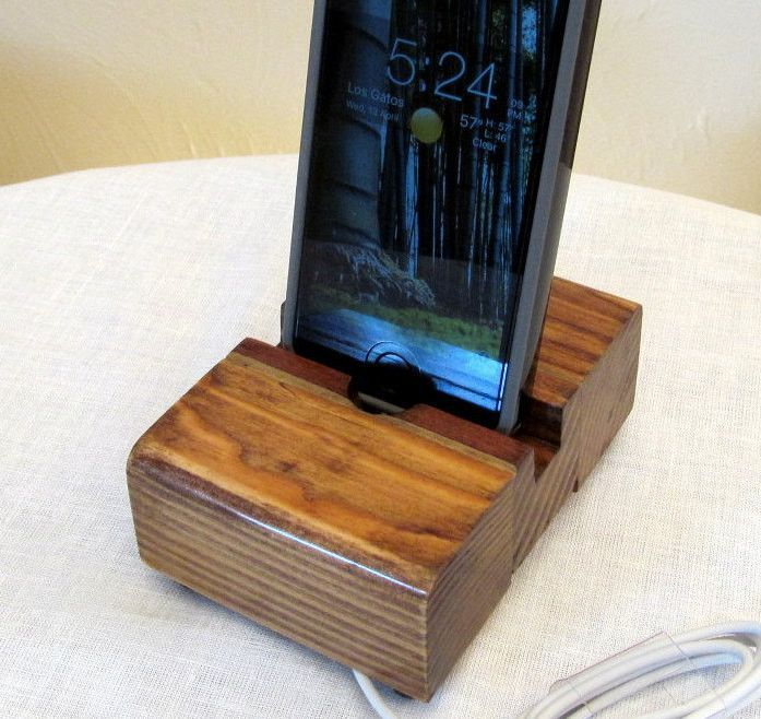 Rustic wood iphone stand, charging station, iphone dock, ipod dock, wood phone stand, iphone 6 charger stand, smartphone, android dock.
