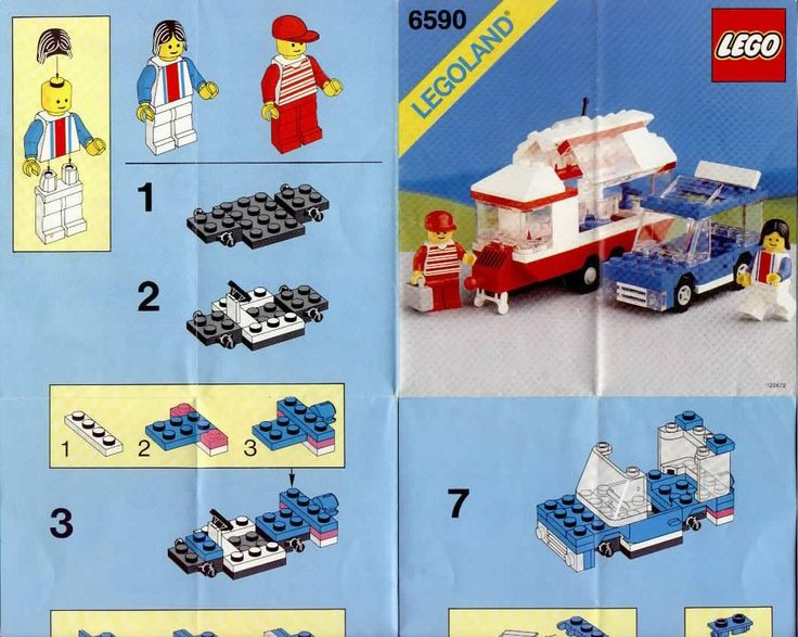 lego city van and caravan instructions