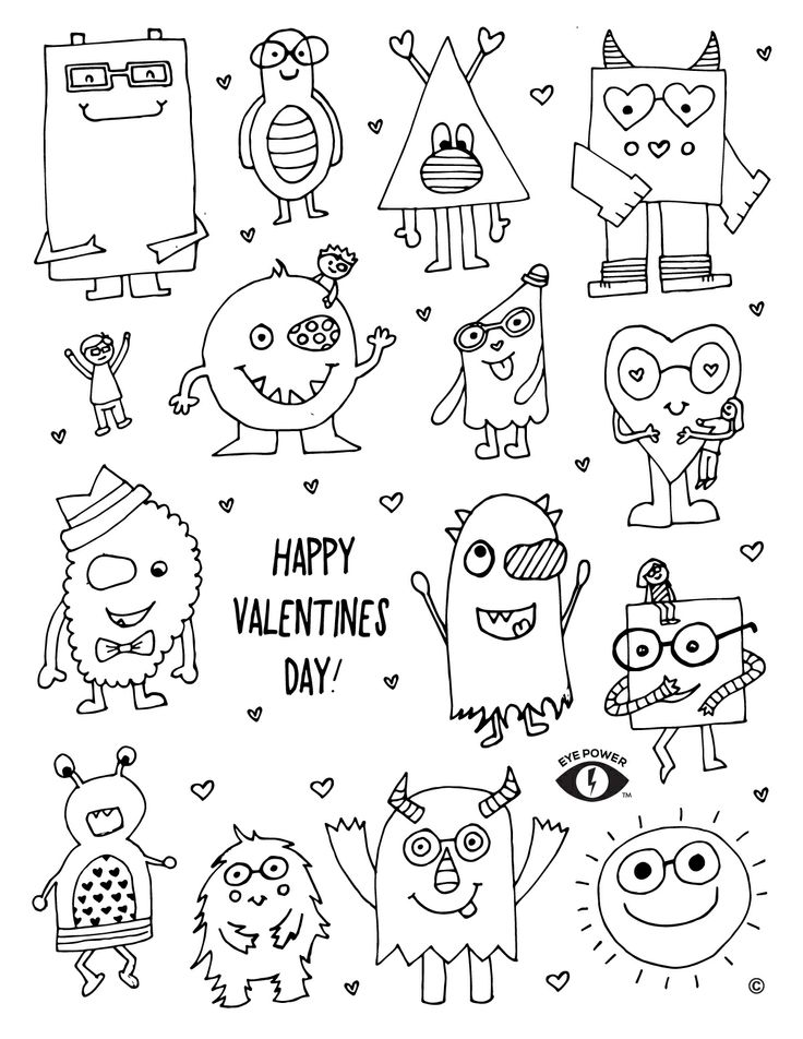 r2l valentines day printable coloring pages - photo #44