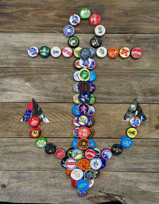 9 best bottle cap art images on pinterest bottle cap art for Homemade recycling projects