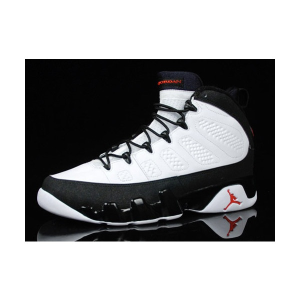 Featured Shoes Air Jordan 9 White/Black/True Red Sneakers ❤ liked on  Polyvore