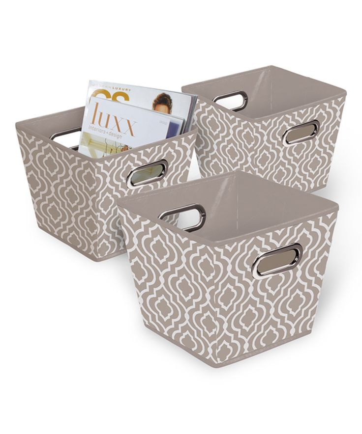 This Taupe Collapsible Storage Bin - Set of Three by Bintopia is perfect! #zulilyfinds