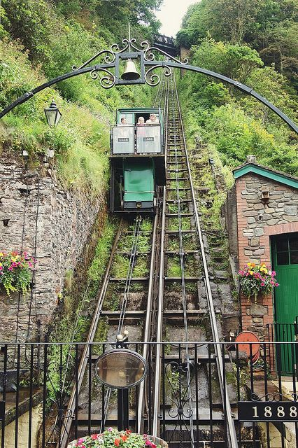 Cliff railway from Lynmouth to Lynton Built in the late 19th century to link the coastal Lynmouth to isolated Lynton on the clifftop, the s...