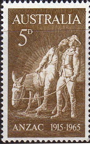 Australia 1965 SG 373 ANZAC Gallipoli Landing Fine Mint SG 373 Scott 385 Other Commonwealth stamps here