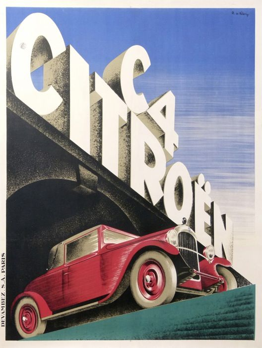 citroen c4 1928 affiches anciennes de de valerio roger automobiles pinterest vintage. Black Bedroom Furniture Sets. Home Design Ideas