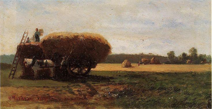 A colheita, óleo sobre tela Camille Pissarro (1830-1903, Ilhas Virgens)