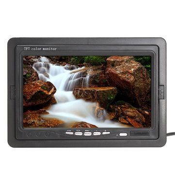 7 Inch Desktop LCD Monitor Bus Car Reversing Camera Car Rear View Kit