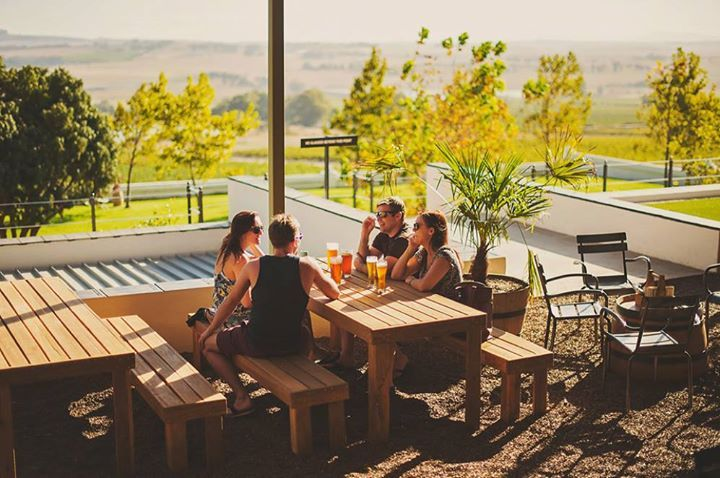 Look at this view at Barley & Biltong! #BrewWithAView #BarleyBiltong #SpiceRoutePaarl #Friends #CraftBeer