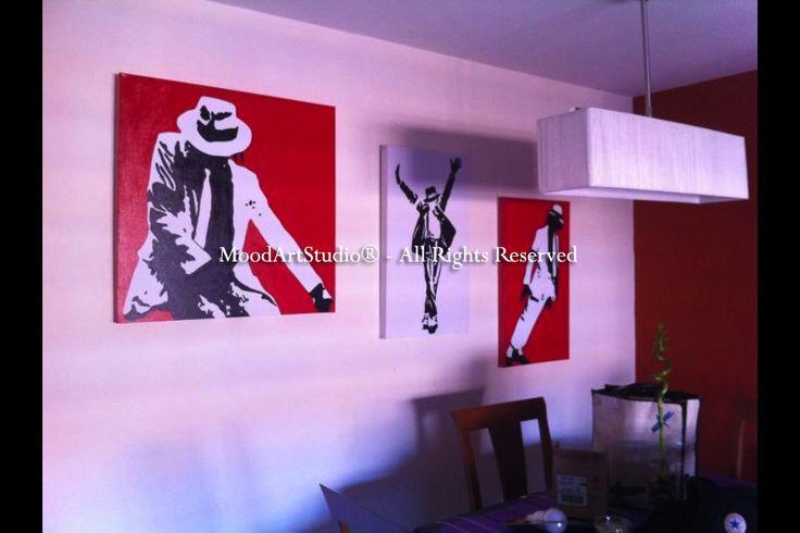 Cuadro triptico Michael Jackson pop art. Gracias por la foto! http://www.moodartstudio.es/es/cuadros-pop-art/181-cuadro-triptico-michael-jackson-pop.html