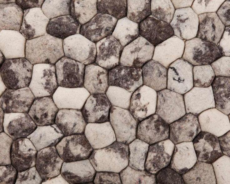 Rechthoek Pebble Indiase Tapijten in Grijs Kleuren Stenen, grote en kleine maten, Pebbles