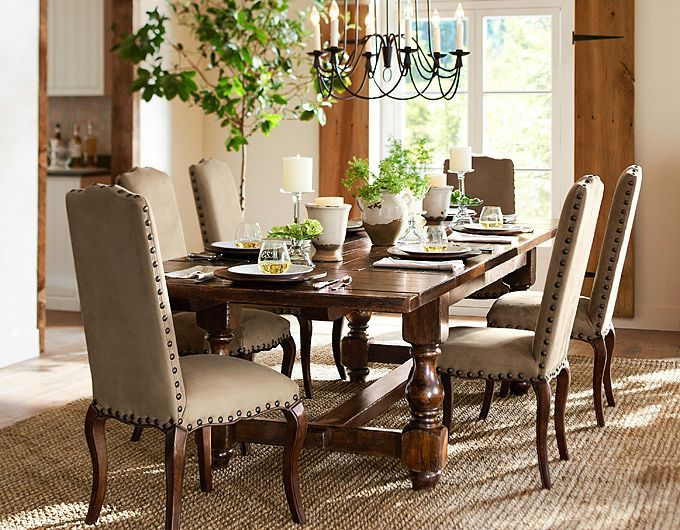 pottery barn dining room images 2