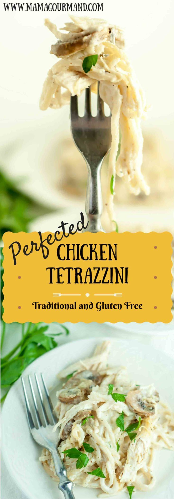 Chicken Tetrazzini is a definite crowd favorite meal. This recipe was perfected through years of making it, and you will not find a better version! Gluten free directions included, so all can enjoy! www.mamagourmand.com
