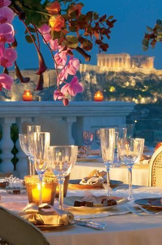 Fine dinning in Athens, with an astonishing view of the Acropolis