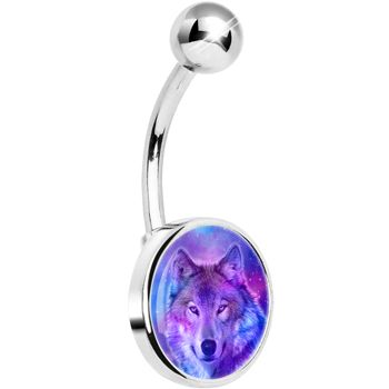 Harmonious Universe and Wolf Belly Ring | Body Candy Body Jewelry #bodycandy #piercings #bellyring