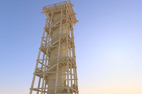 Timber lookout tower, Frajka peak