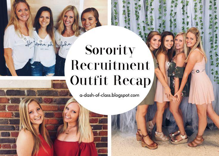 Sorority Recruitment Outfit Recap