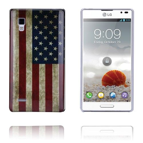 USA Flag LG Optimus L9 Deksel