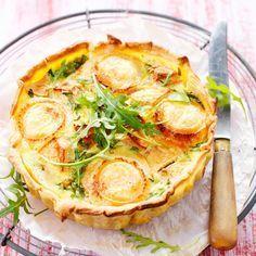 Découvrez la recette de la quiche aux pommes et au chèvre