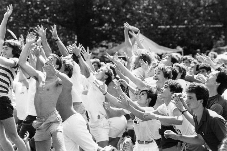 Life was great in 1984, when free ice cream was given out on the UNSW Library Lawn....
