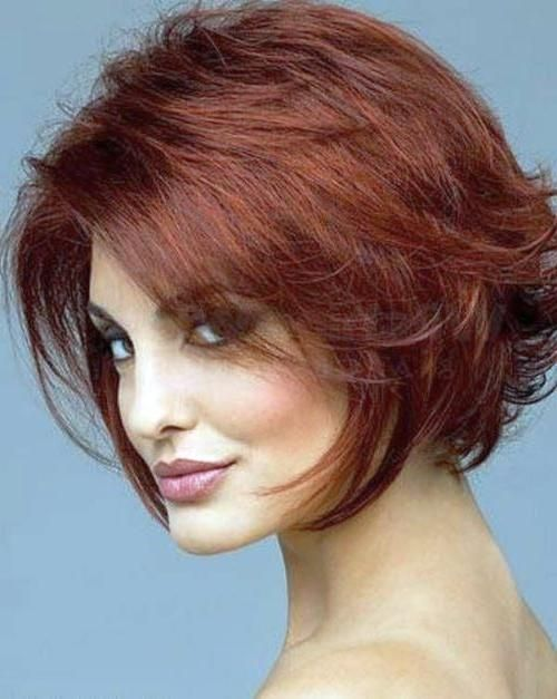 Explore Gallery Of Short Hairstyles For Round Faces With Double Chin