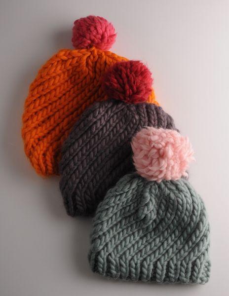 Plump Super Chunky Knitting Pattern - Swirl Hat