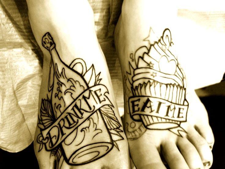 Alice in Wonderland tattoo | Needles | Pinterest | Alice In Wonderland ...