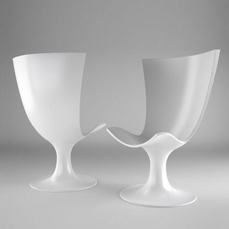*industrial Design, Chairs, Seatings, White, Minimalism* Santos Chair By  Joel