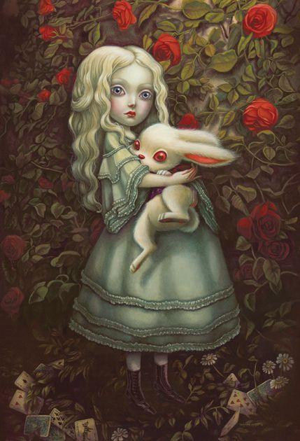 Benjamin Lacombe sublime la beauté étrange d'Alice au pays des merveilles - Sortir - Télérama.fr