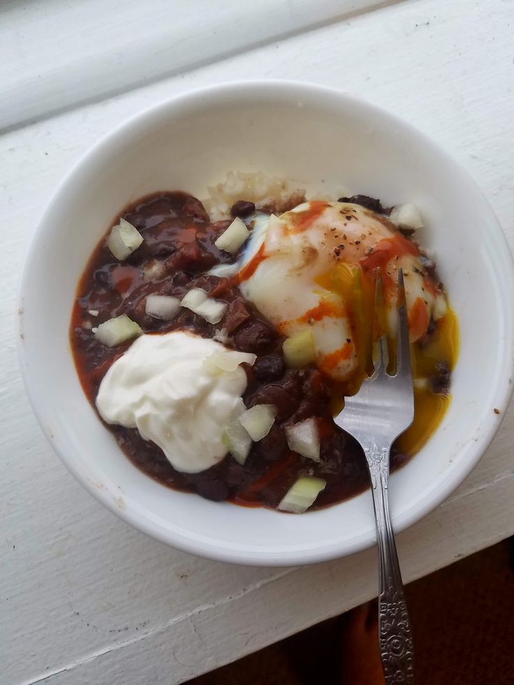 Shakshuka inspired this Mexican black bean dish. Set and forget crockpot meal that definitely satisfies.