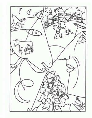 Chagall Artist Coloring pages