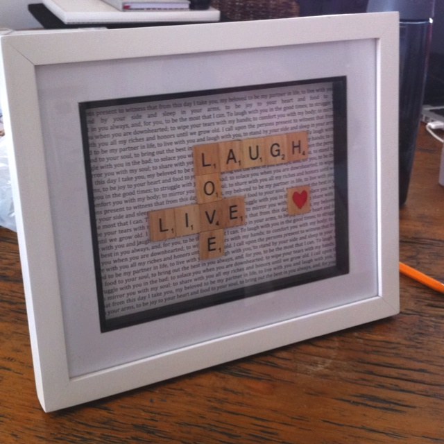 make scrabble letter frame basteln pinterest stier kreativ und geschenk. Black Bedroom Furniture Sets. Home Design Ideas