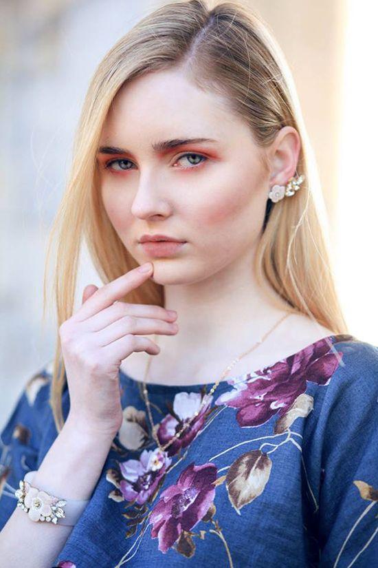 Floral Girl. Wearing #luliartbijouxjewelry Photo by #adelaidemossina Stylist: #andreabrandolini MUA: #robertogilardoni  #shooting #floral #girl #jewelry #flowers #cute #style #feminine