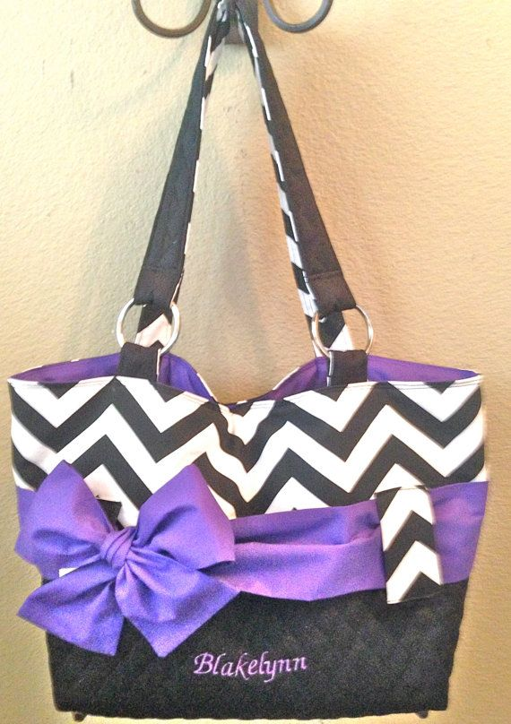 Black White Purple Diaper Bag With Interchangeable By Ceejaze 75 00 Hand Made Love For Kids Pinterest Baby And Bags