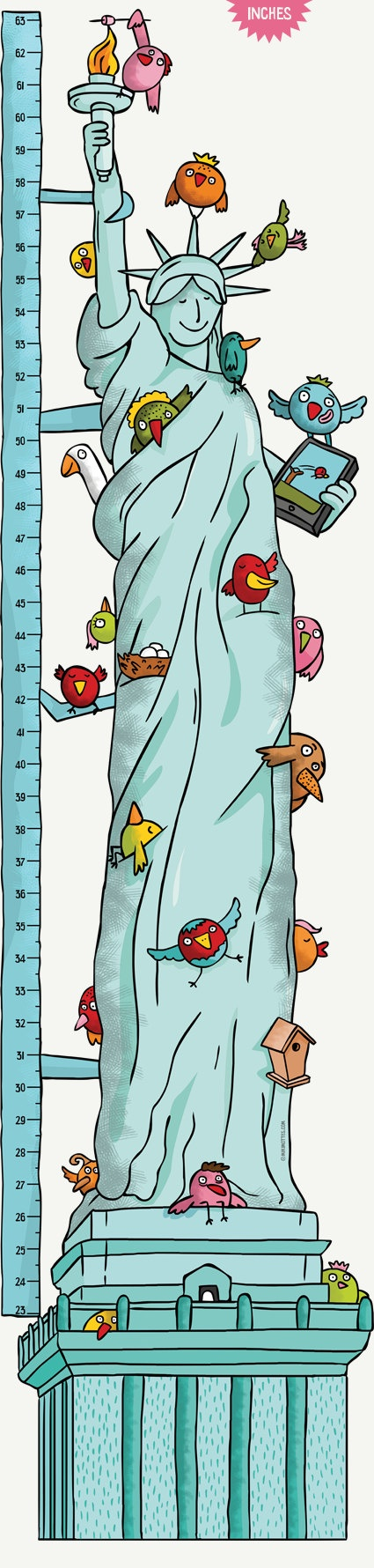 Best Growth Charts  Kids Height Charts By Miki Mottes On Etsy