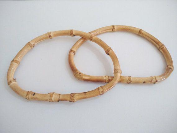 1 pair of bamboo bag handles 16 cm handbag make a by ROYALcraftPT
