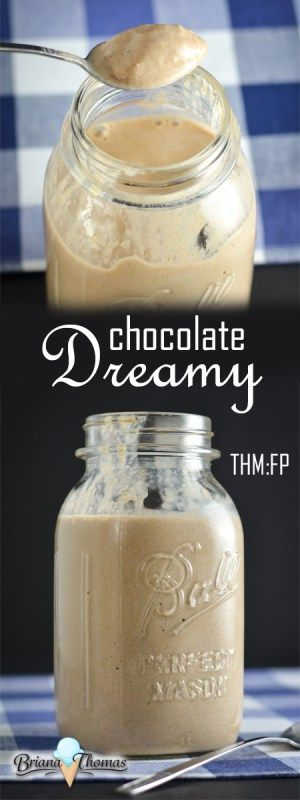 Chocolate Dreamy (my healthy version of a Wendy's Frosty) - THM:FP low carb low fat gluten/egg free wit nut free option - includes OKRA!