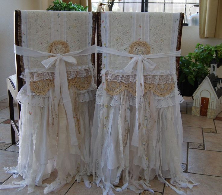 My Whole Heart Vintage Lace And Burlap Farmhouse Shabby Chic Bride N Groom Chair Cover Set Ooak Funkyjunkyart
