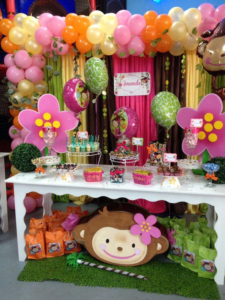 Monkey love mis decoraciones en decopartyc pinterest for Monkey decorations