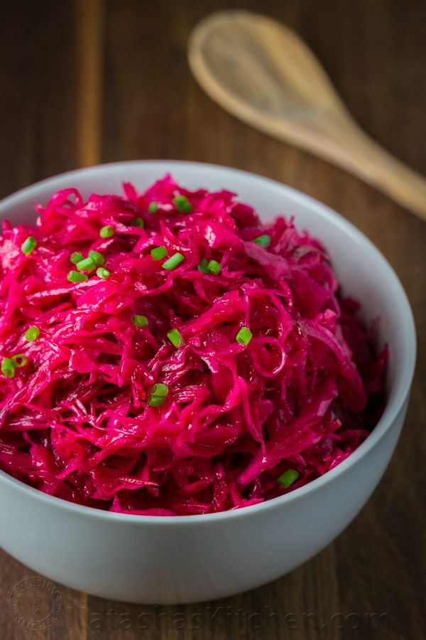 This cabbage and beet salad is worth discovering. It tastes a little like marinated cabbage salad (a type of sauerkraut), with a little sweetness from the beets. And it's so colorful! The natural hue will surprise and intrigue your dinner guests, especially if they aren't from Eastern Europe where...